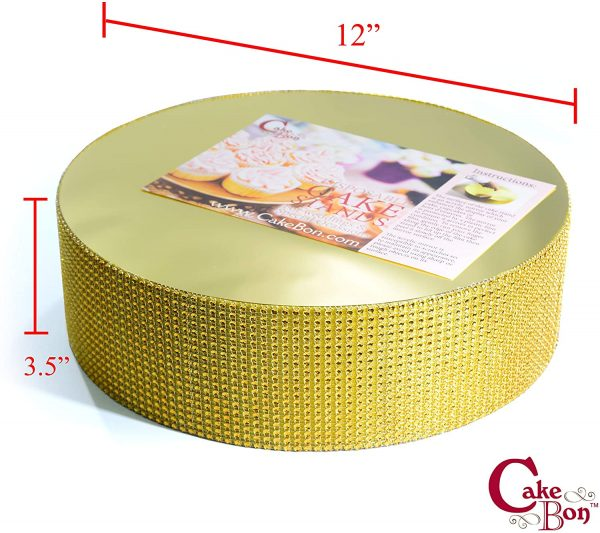 12in Wedding Cake Stand - Gold_cakebon