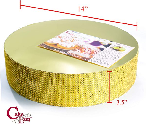 14in Wedding Cake Stand - Gold_cakebon