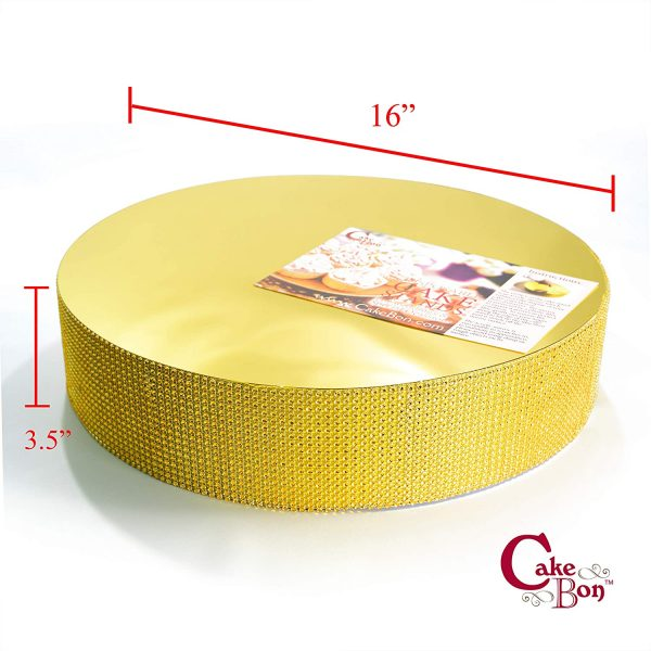 16in Wedding Cake Stand - Gold_cakebon