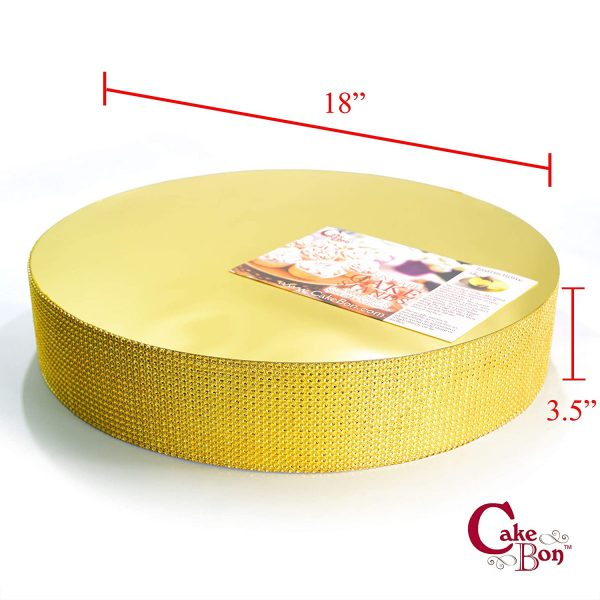 18in Wedding Cake Stand - Gold_cakebon