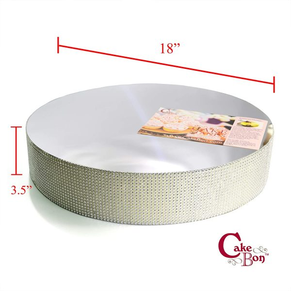 18in Wedding Cake Stand - Silver_cakebon