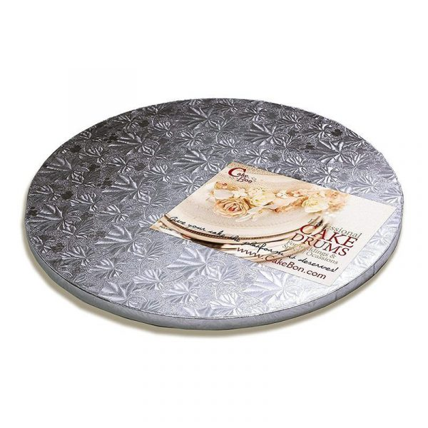 Silver Foil Cake Drum 14 Inch Cake Board by Cakebon Available on Amazon Prime